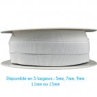 Elastique Bracelet 7mm Blanc (bobine 25m)