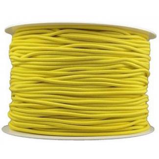 Thick Round Cord Elastic Yellow (100m bobin)