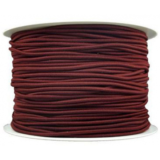 Elastique cordon 2mm Chocolat (bobine 100m)