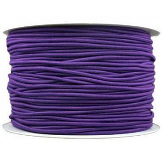 Thick Round Cord Elastic Purple (100m bobin)