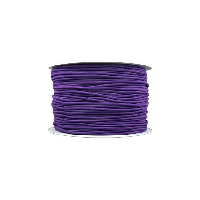 Elastique cordon 2mm Violet (bobine 100m)