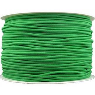 Thick Round Cord Elastic Green (100m bobin)