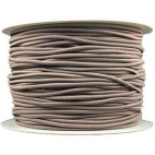 Thick Round Cord Elastic Taupe (100m bobin)