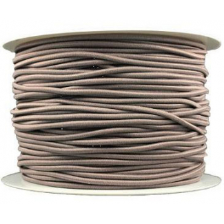 Thick Round Cord Elastic Taupe (100m bobin)