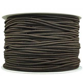 Elastique cordon 2mm Brun (bobine 100m)
