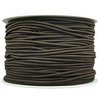 Thick Round Cord Elastic Brown (100m bobin)