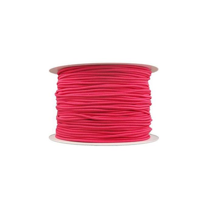 Thick Round Cord Elastic Fushia (100m bobin)