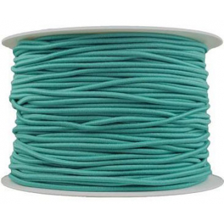Thick Round Cord Elastic Turquoise (100m bobin)