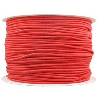 Elastique cordon 2mm Rouge (bobine 100m)