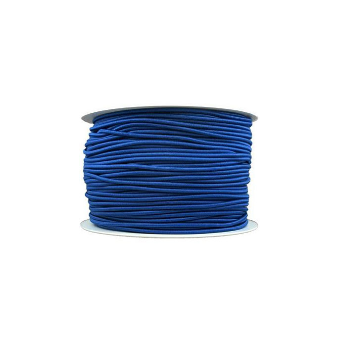 Thick Round Cord Elastic Royal Blue (100m bobin)