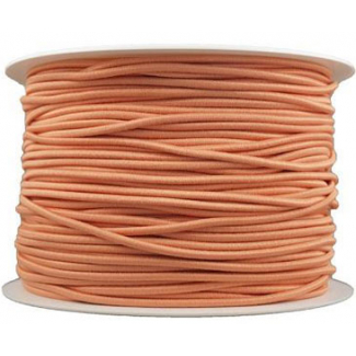 Thick Round Cord Elastic Peach (by meter)