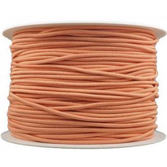 Thick Round Cord Elastic Peach (100m bobin)