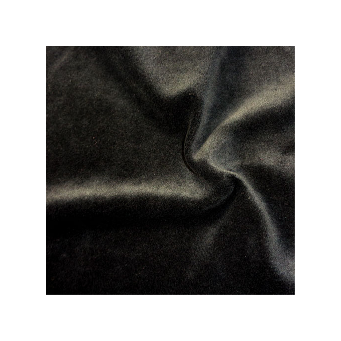 Velours cotton Oekotex Black (by meter)