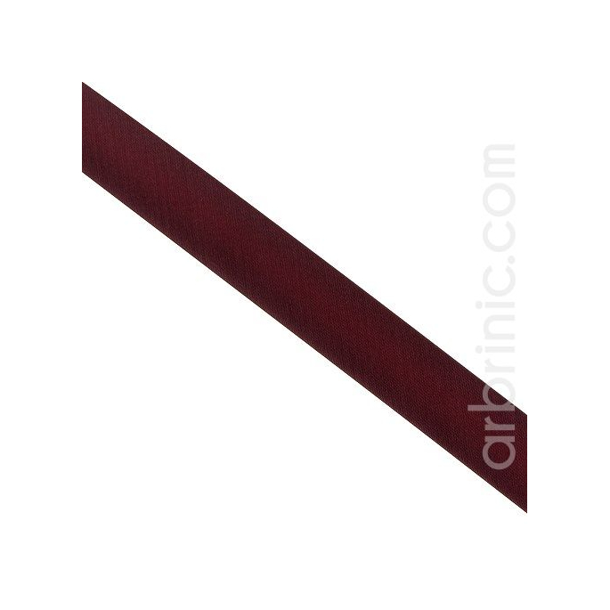 Satin Bias Binding 20mm Burgundy (25m roll)