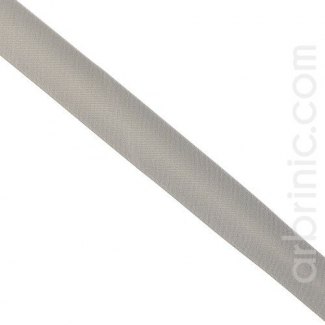 Satin Bias Binding 20mm Grey (25m roll)