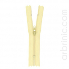 Nylon finished zipper 10cm Eggshell