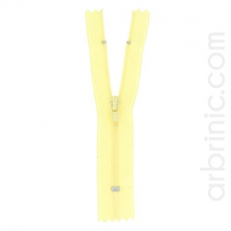 Nylon finished zipper Light Yellow
