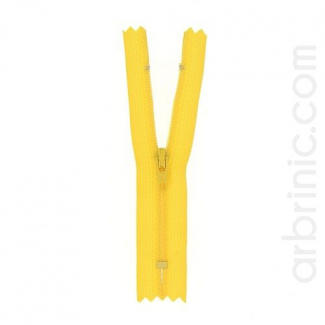 Fermeture fine nylon NS 10cm Jaune Or
