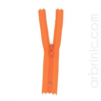 Nylon finished zipper 10cm Orange