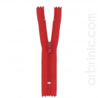 Nylon finished zipper 10cm Red