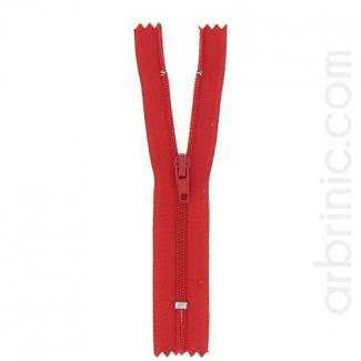 Nylon finished zipper Red