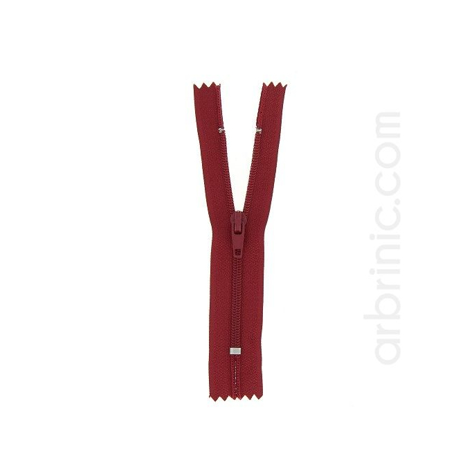 Nylon finished zipper 10cm Dark Red