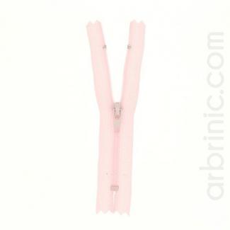 Nylon finished zipper 10cm Light Pink