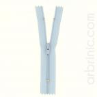 Nylon finished zipper 10cm Light Blue