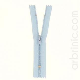 Fermeture fine nylon non séparable Bleu Clair