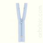 Nylon finished zipper 10cm Sky Blue