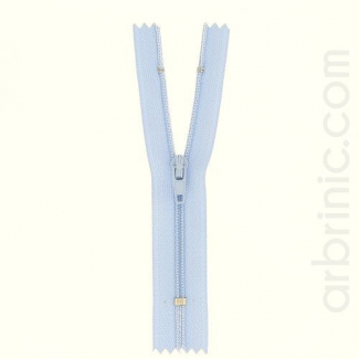 Nylon finished zipper Sky Blue