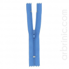Nylon finished zipper 10cm France Blue