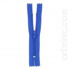 Fermeture fine nylon NS 10cm Bleu Roi
