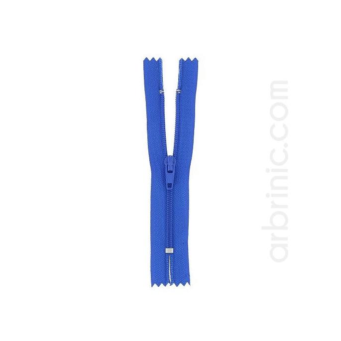 Nylon finished zipper 10cm Royal Blue