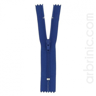 Fermeture fine nylon non séparable Bleu Marine