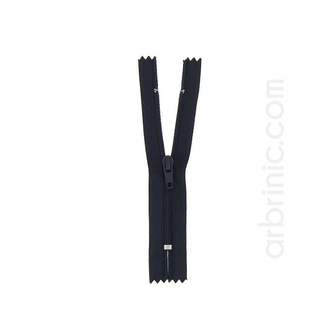 Nylon finished zipper 10cm Night Blue