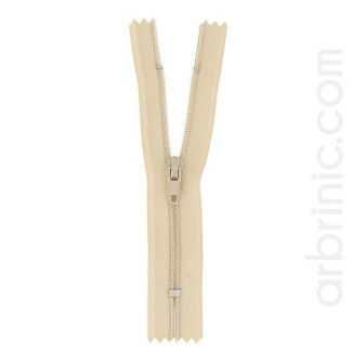 Nylon finished zipper Light Beige