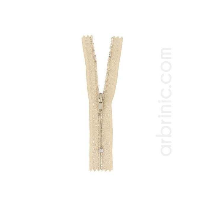 Fermeture fine nylon NS 10cm Beige Clair