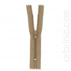 Nylon finished zipper 10cm Dark Beige