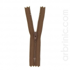 Nylon finished zipper 10cm Brown