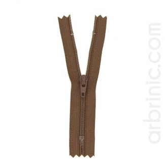 Nylon finished zipper Brown