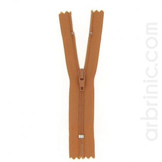 Nylon finished zipper Copper