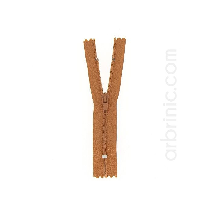 Nylon finished zipper 10cm Copper