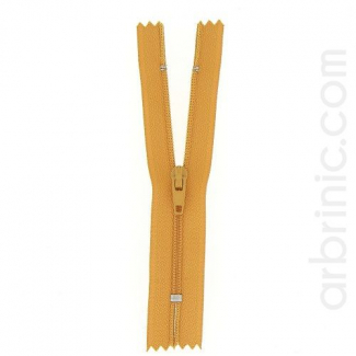 Nylon finished zipper Ocre