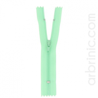 Fermeture fine nylon non séparable Vert Celadon
