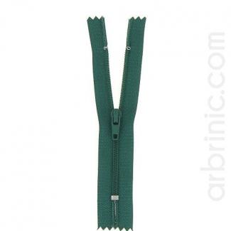 Fermeture fine nylon non séparable Vert Bouteille