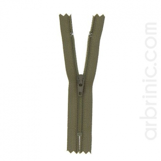 Nylon finished zipper Kaki