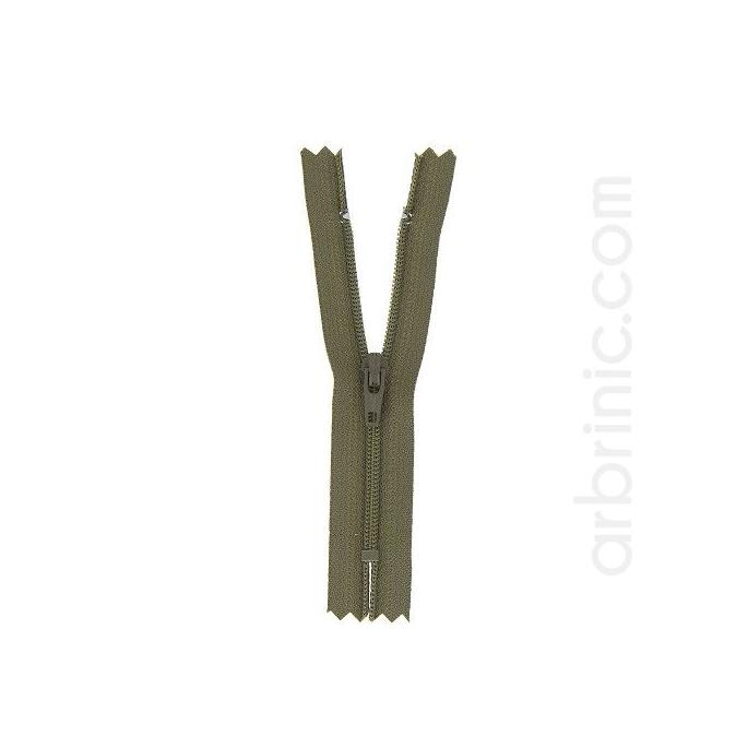 Fermeture fine nylon NS 10cm Kaki