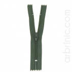 Nylon finished zipper 10cm Dark Kaki