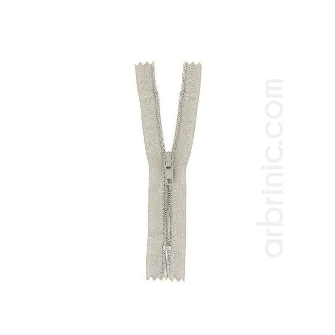 Fermeture fine nylon NS 10cm Gris Clair